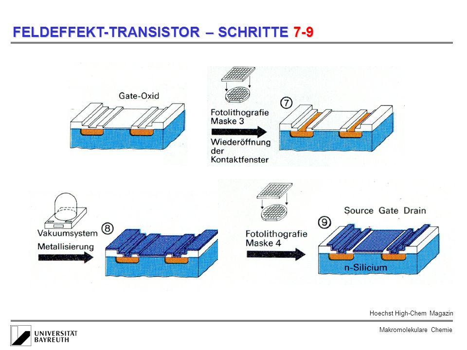 Makromolekulare Chemie FELDEFFEKT-TRANSISTOR – SCHRITTE 7-9 Hoechst High-Chem Magazin