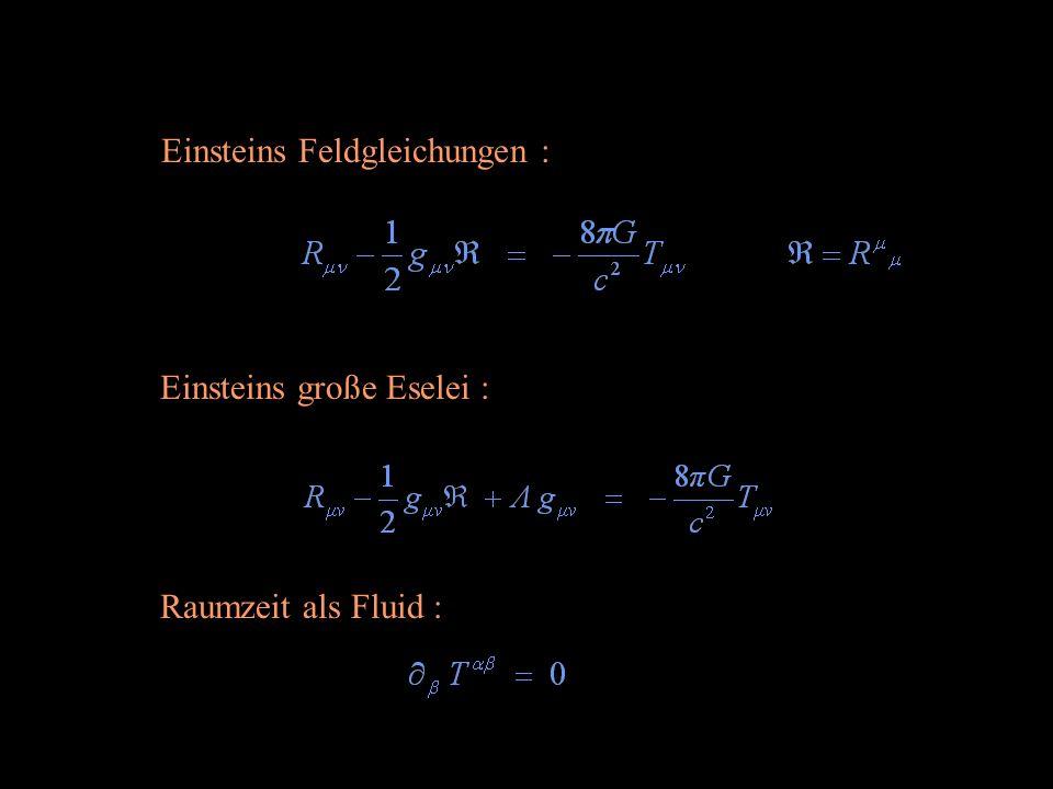 Einsteins große Eselei : Einsteins Feldgleichungen : Raumzeit als Fluid :