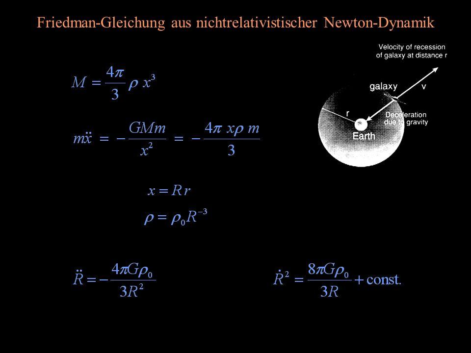 Friedman-Gleichung aus nichtrelativistischer Newton-Dynamik