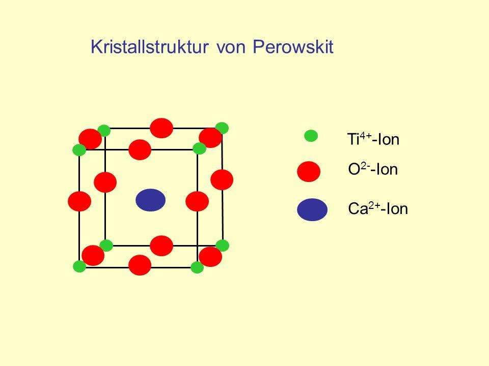Kristallstruktur von Perowskit Ca 2+ -Ion O 2- -Ion Ti 4+ -Ion