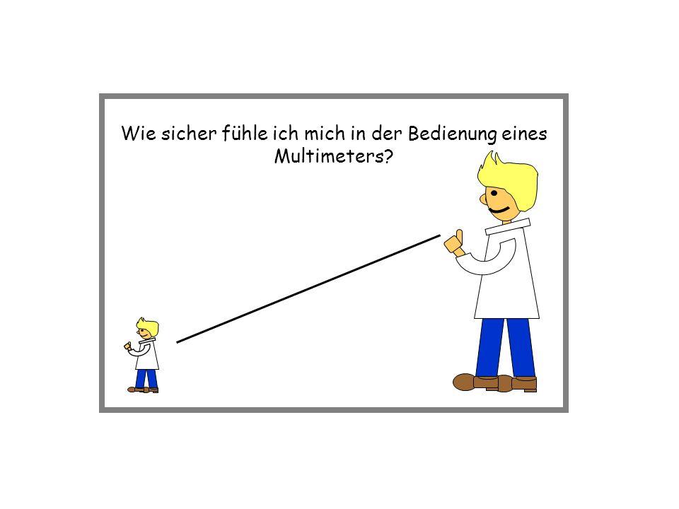 Wie sicher fühle ich mich in der Bedienung eines Multimeters?