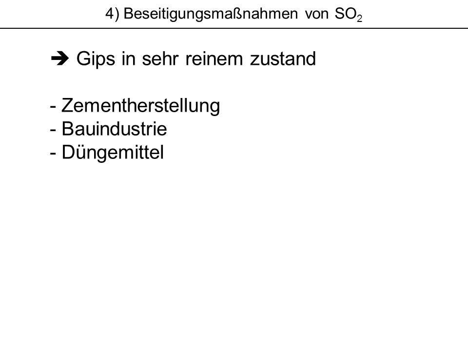 4) Beseitigungsmaßnahmen von SO 2 Gips in sehr reinem zustand - Zementherstellung - Bauindustrie - Düngemittel