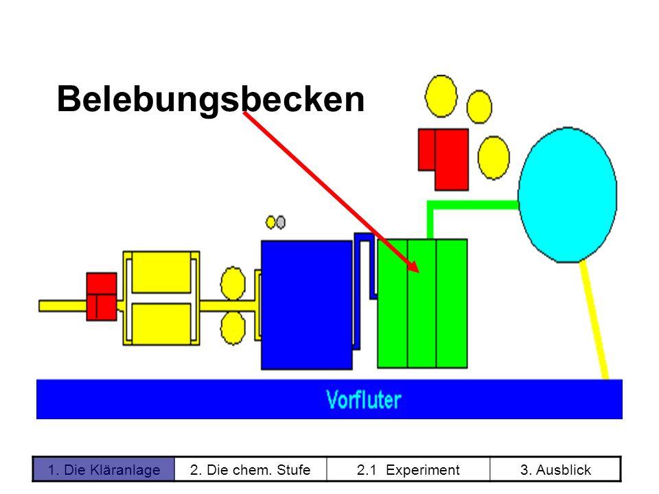 1. Die Kläranlage2. Die chem. Stufe2.1 Experiment3. Ausblick Belebungsbecken