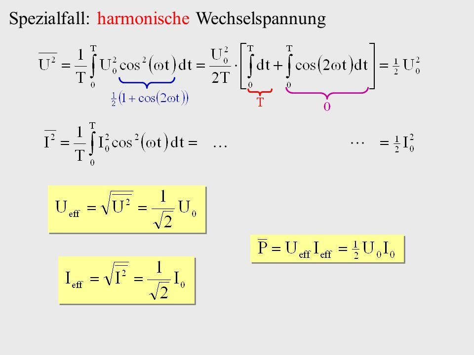 Spezialfall: harmonische Wechselspannung