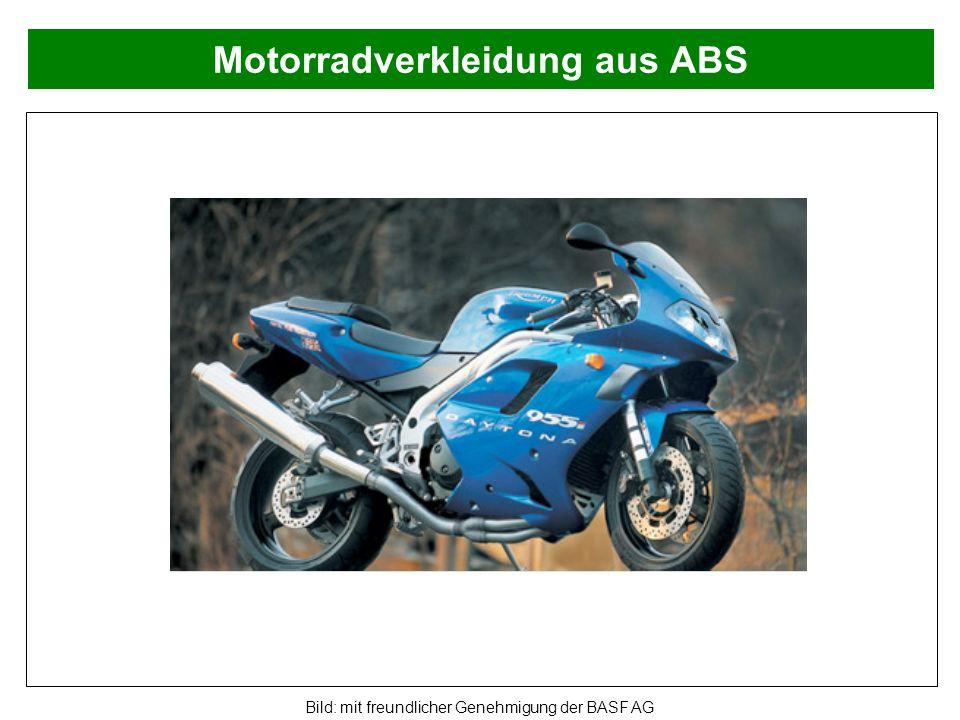 Motorradverkleidung aus ABS Bild: mit freundlicher Genehmigung der BASF AG