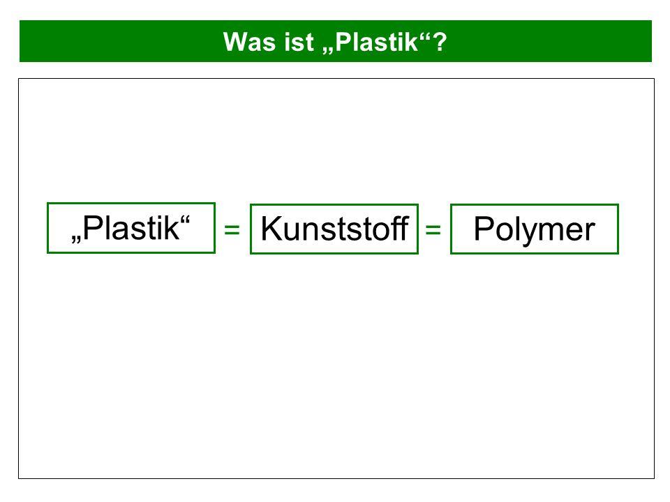 Was ist Plastik? Plastik Kunststoff Polymer ==
