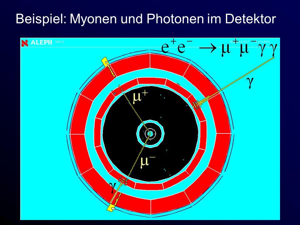 Beispiel: Myonen und Photonen im Detektor γ γ