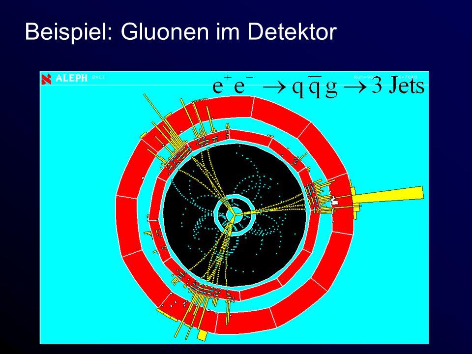Beispiel: Gluonen im Detektor