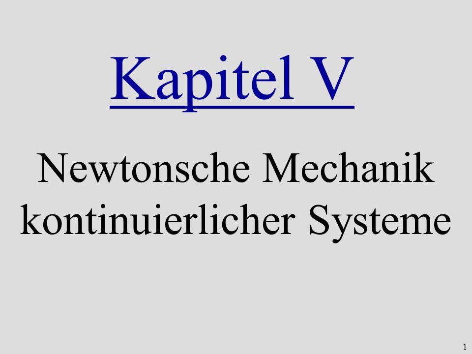 1 Newtonsche Mechanik kontinuierlicher Systeme Kapitel V