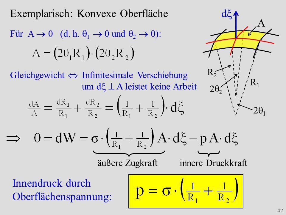 47 Exemplarisch: Konvexe Oberfläche Für A 0 (d.h.