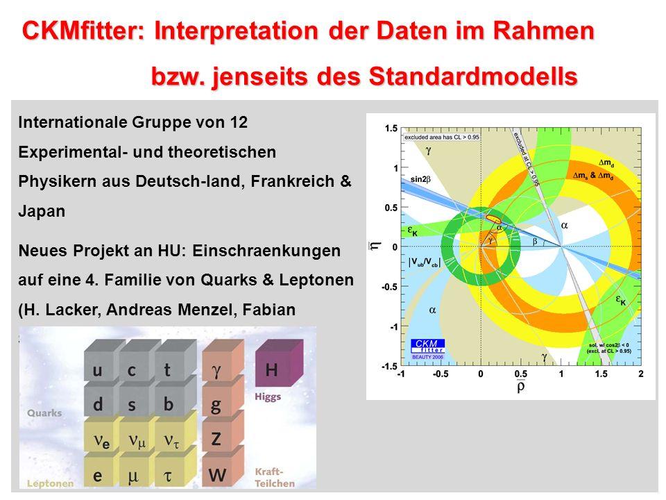 CKMfitter: Interpretation der Daten im Rahmen CKMfitter: Interpretation der Daten im Rahmen bzw.