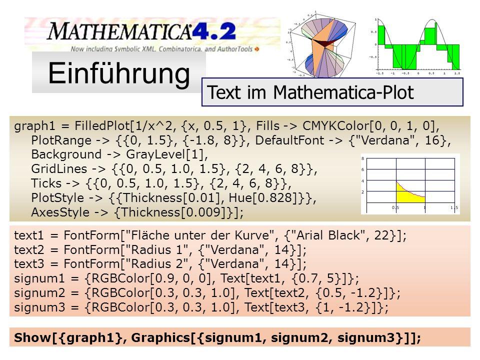 graph1 = FilledPlot[1/x^2, {x, 0.5, 1}, Fills -> CMYKColor[0, 0, 1, 0], PlotRange -> {{0, 1.5}, {-1.8, 8}}, DefaultFont -> {