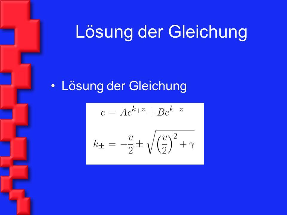 Lösung der Gleichung