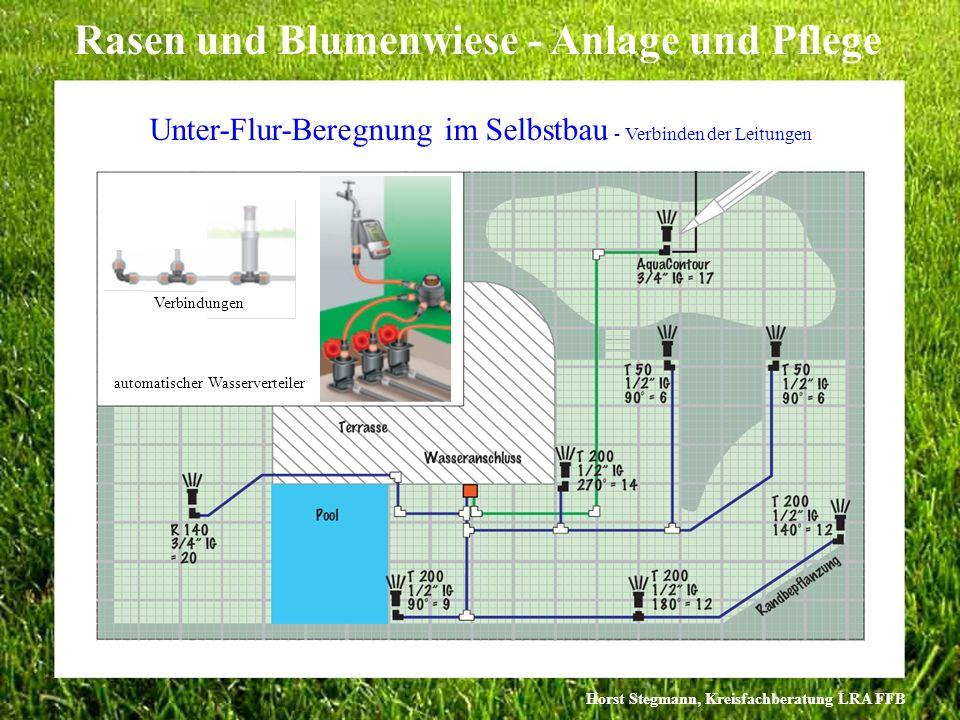 Horst Stegmann, Kreisfachberatung LRA FFB Rasen und Blumenwiese - Anlage und Pflege Unter-Flur-Beregnung im Selbstbau - Verbinden der Leitungen Verbin