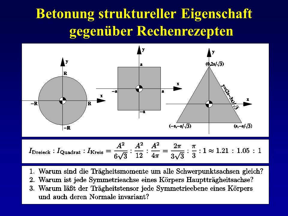 Betonung struktureller Eigenschaft gegenüber Rechenrezepten
