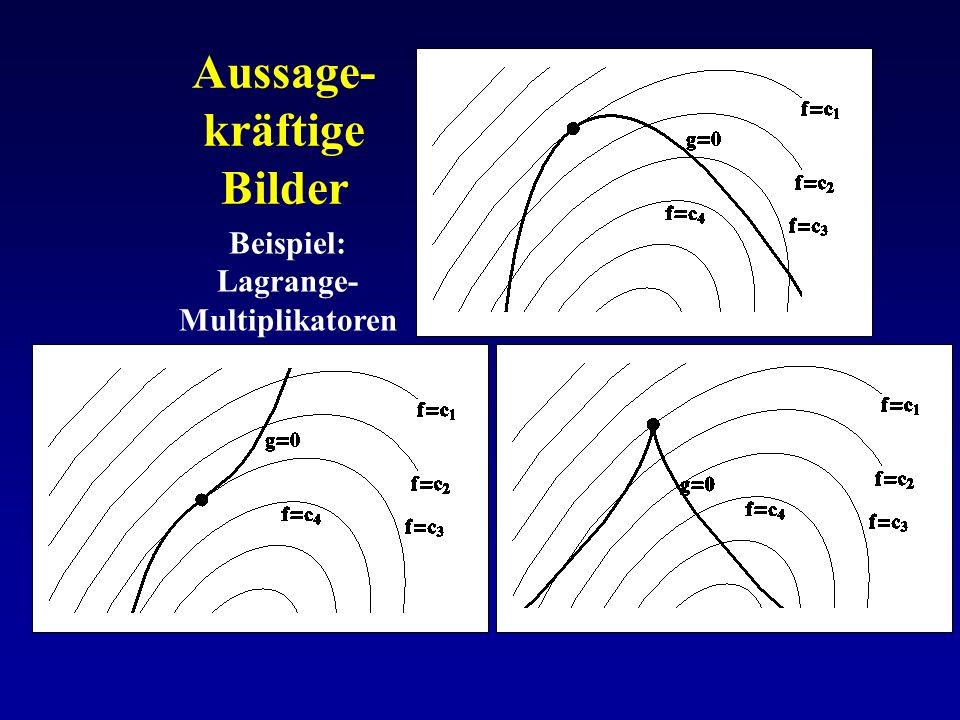 Aussage- kräftige Bilder Beispiel: Lagrange- Multiplikatoren