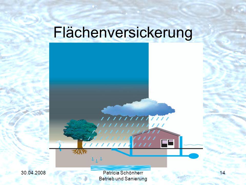 30.04.2008Patricia Schönherr Betrieb und Sanierung Flächenversickerung 14
