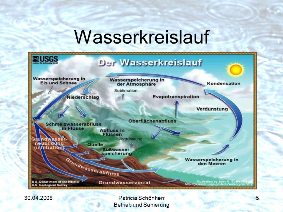 30.04.2008Patricia Schönherr Betrieb und Sanierung Wasserkreislauf 5