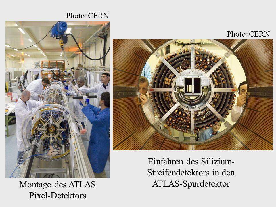 Montage des ATLAS Pixel-Detektors Einfahren des Silizium- Streifendetektors in den ATLAS-Spurdetektor Photo: CERN