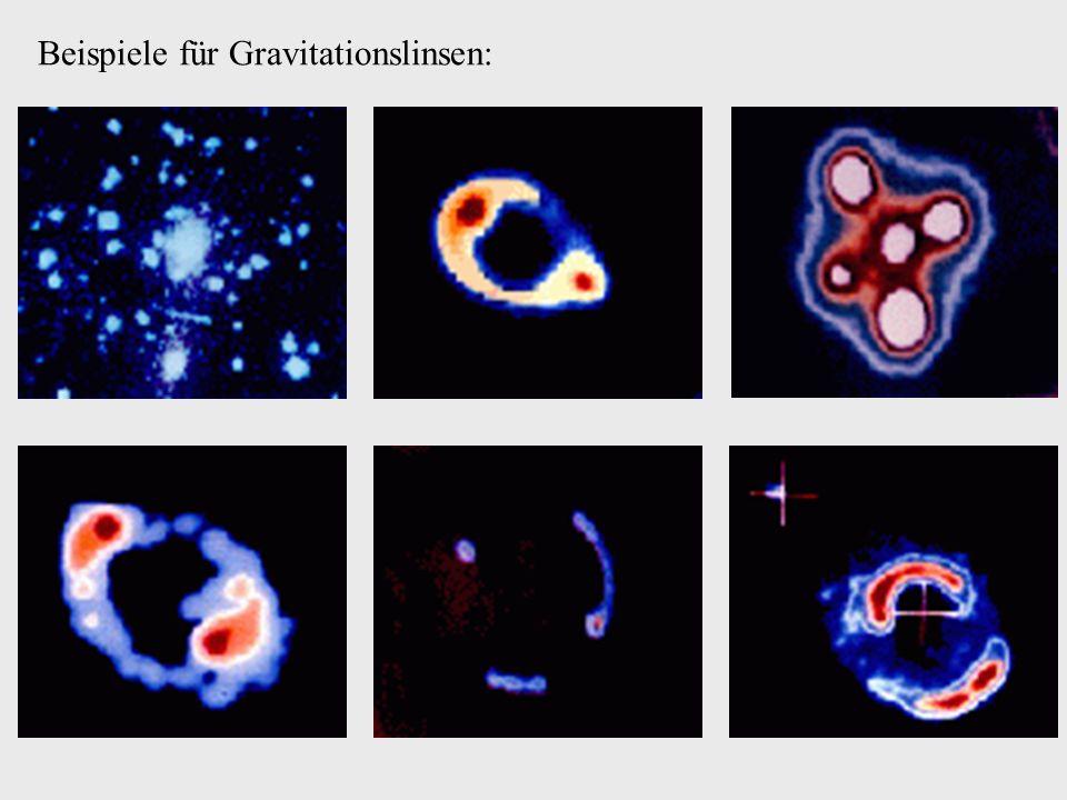 Beispiele für Gravitationslinsen: