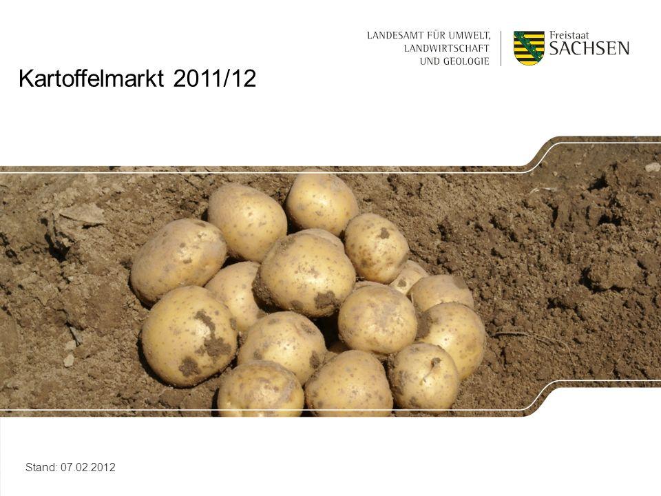 Kartoffelmarkt 2011/12 Stand: 07.02.2012