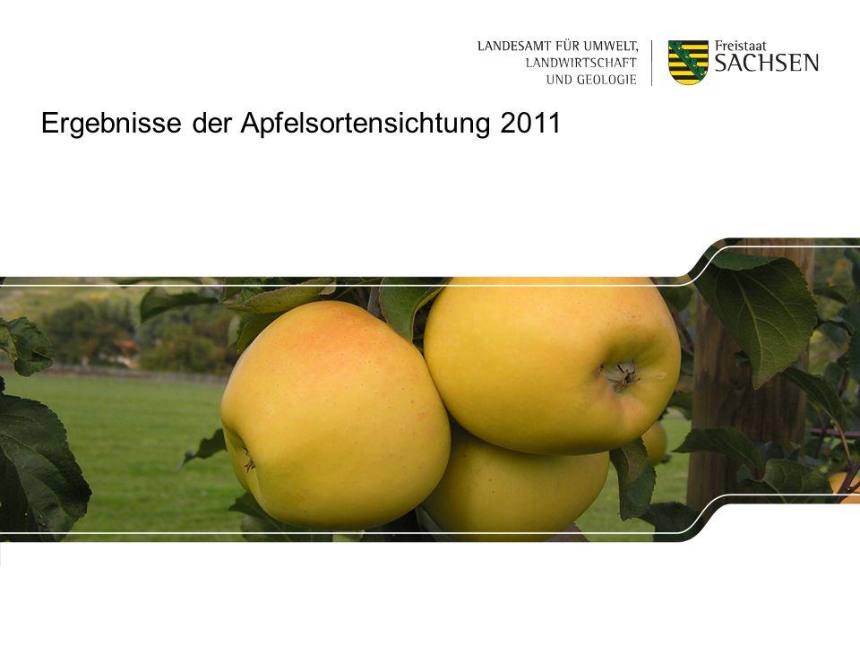 | 1. Dezember 2011 | Sylvia Metzner, Dresden-Pillnitz1 Ergebnisse der Apfelsortensichtung 2011