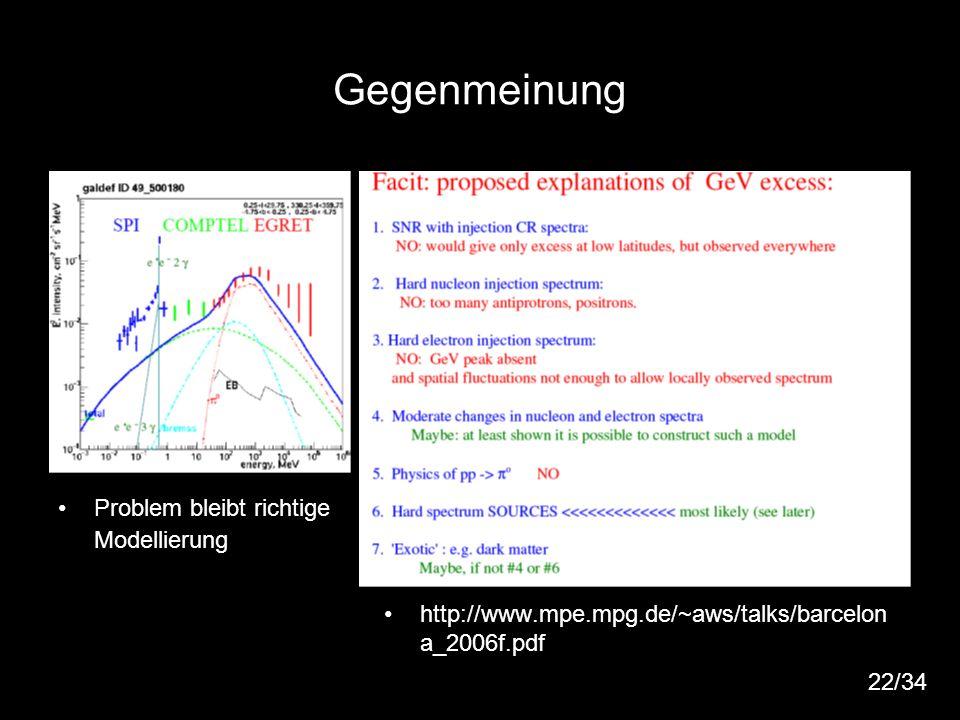 26 Gegenmeinung Problem bleibt richtige Modellierung http://www.mpe.mpg.de/~aws/talks/barcelon a_2006f.pdf 22/34