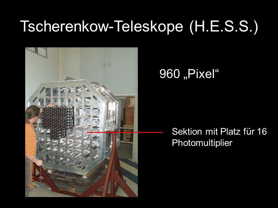 960 Pixel Sektion mit Platz für 16 Photomultiplier Tscherenkow-Teleskope (H.E.S.S.)