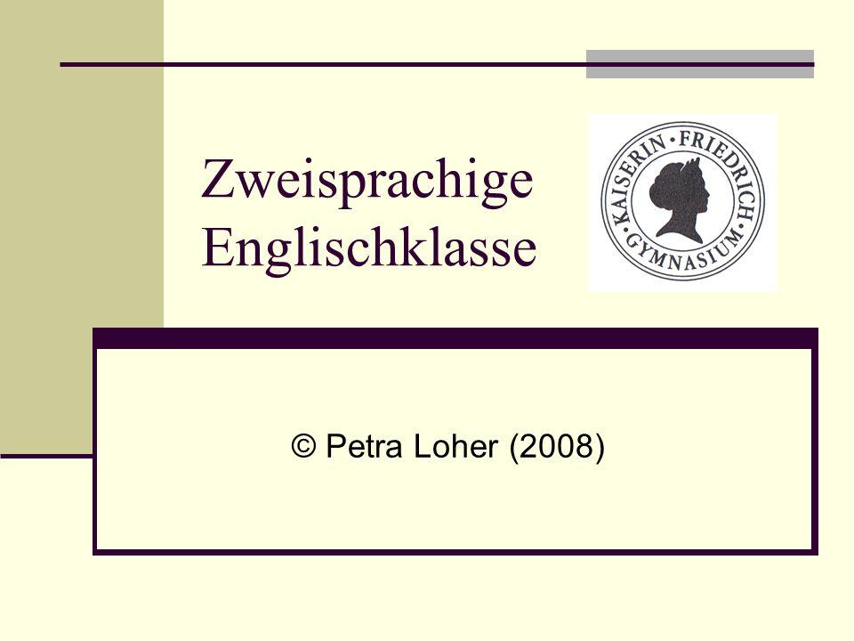 Zweisprachige Englischklasse © Petra Loher (2008)