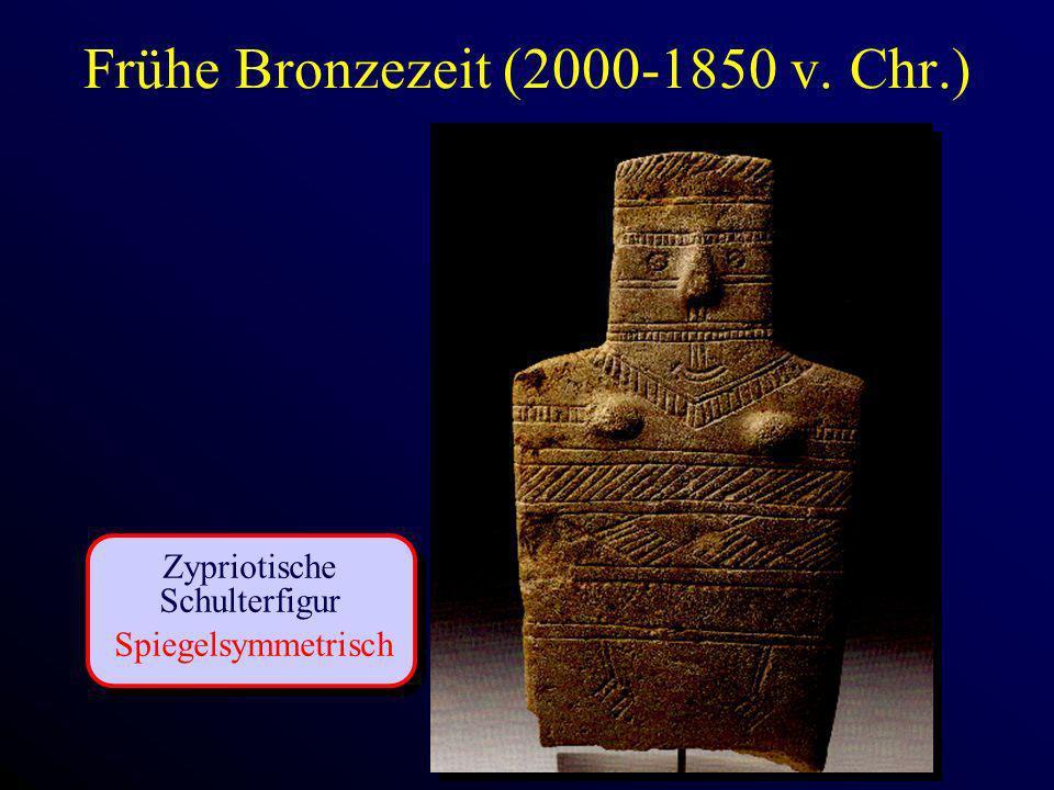 Frühe Bronzezeit (2000-1850 v. Chr.) Zypriotische Schulterfigur Spiegelsymmetrisch
