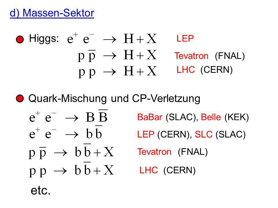 zwei (oder mehr) Jets von Hadronen Impulssumme 0 Energiesumme e e -Schwerpunktsenergie