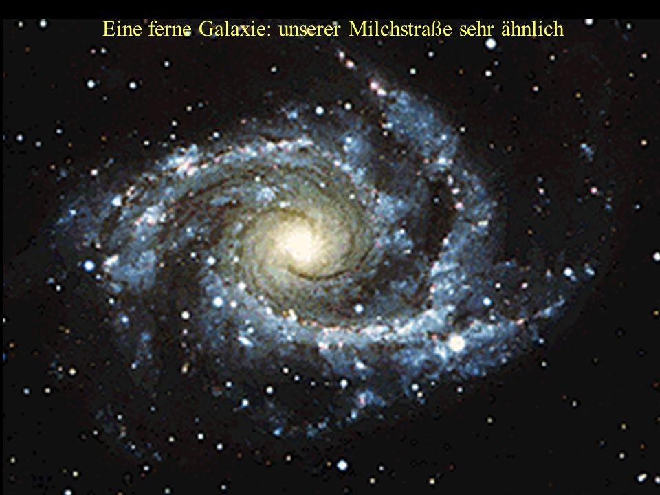 Andromeda: unsere Nachbargalaxie Unserer Milchstraße sehr ähnlich ! Entfernung: 20 Milliarden Milliarden Kilometer