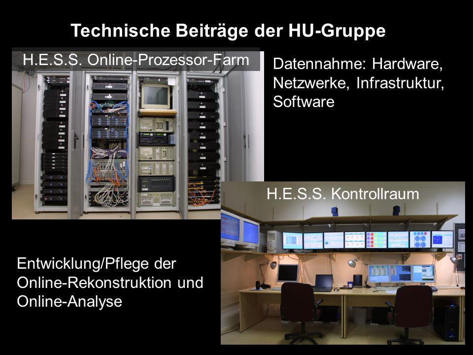 Technische Beiträge der HU-Gruppe Datennahme: Hardware, Netzwerke, Infrastruktur, Software Entwicklung/Pflege der Online-Rekonstruktion und Online-Ana
