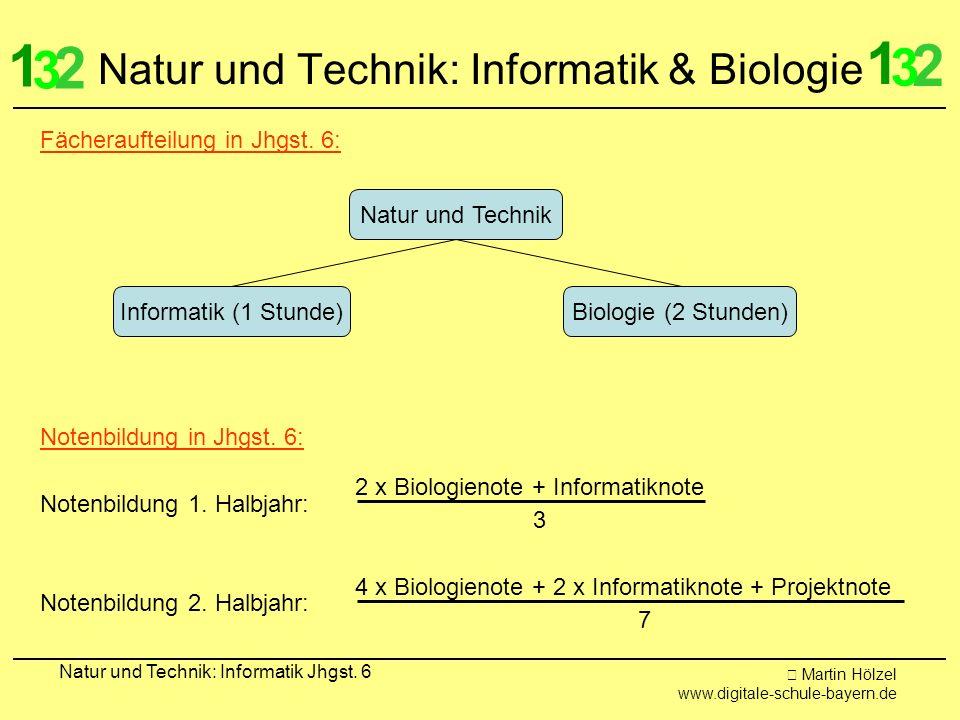 Martin Hölzel www.digitale-schule-bayern.de Natur und Technik: Informatik Jhgst. 6 Natur und Technik: Informatik & Biologie 1 2 3 1 2 3 Natur und Tech