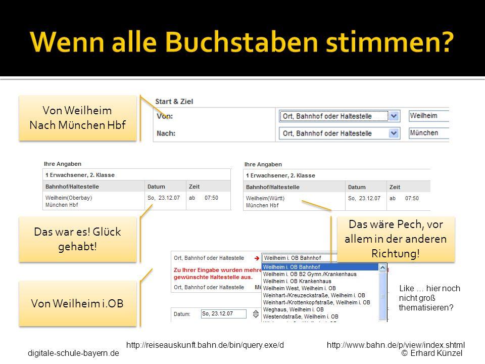 http://www.bahn.de/p/view/index.shtml Von Weilheim Nach München Hbf Von Weilheim Nach München Hbf Das war es! Glück gehabt! Von Weilheim i.OB Like … h