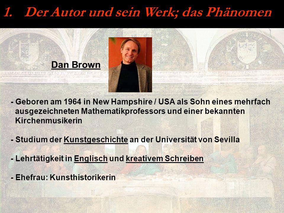 1. Der Autor und sein Werk; das Phänomen - Geboren am 1964 in New Hampshire / USA als Sohn eines mehrfach ausgezeichneten Mathematikprofessors und ein