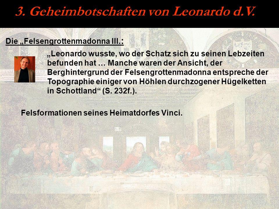 Die Felsengrottenmadonna III. : Leonardo wusste, wo der Schatz sich zu seinen Lebzeiten befunden hat … Manche waren der Ansicht, der Berghintergrund d