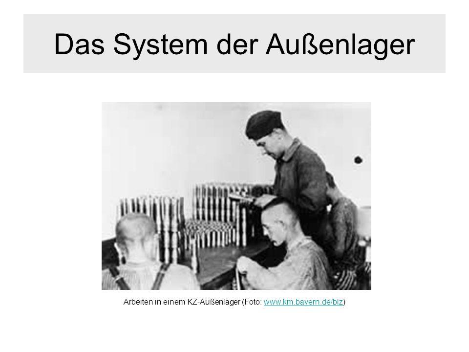 Das System der Außenlager Arbeiten in einem KZ-Außenlager (Foto: www.km.bayern.de/blz)www.km.bayern.de/blz