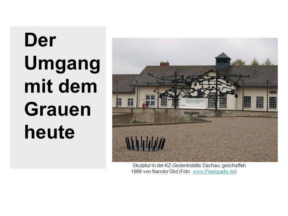 Der Umgang mit dem Grauen heute Skulptur in der KZ-Gedenkstätte Dachau, geschaffen 1968 von Nandor Glid (Foto: www.Pixelquelle.de)www.Pixelquelle.de