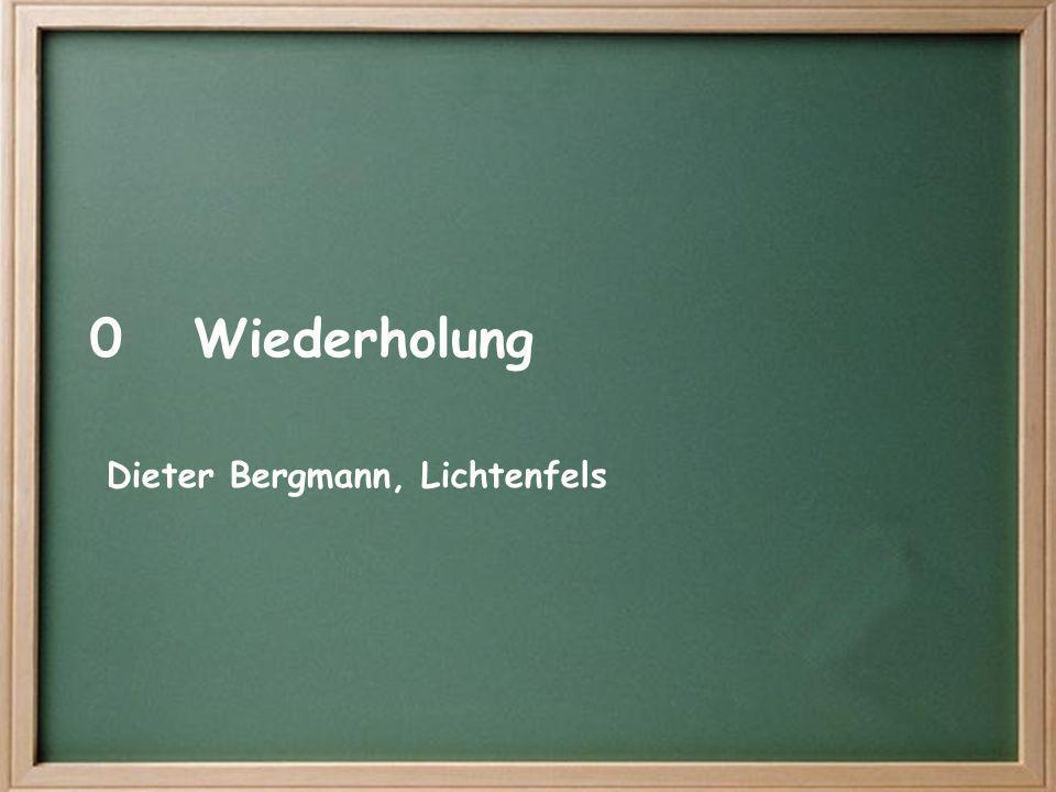 0Wiederholung Dieter Bergmann, Lichtenfels