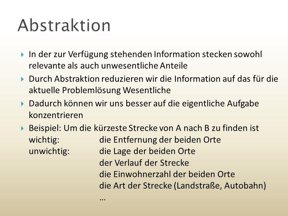 ein Bild der Wirklichkeit Aufgabe: Ermittlung der kürzesten (Autobahn-) Fahrstrecke von Hof nach Ulm