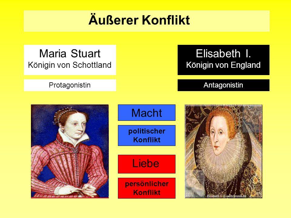 Maria Stuart Königin von Schottland Macht Liebe Äußerer Konflikt Elisabeth I. Königin von England ProtagonistinAntagonistin politischer Konflikt persö