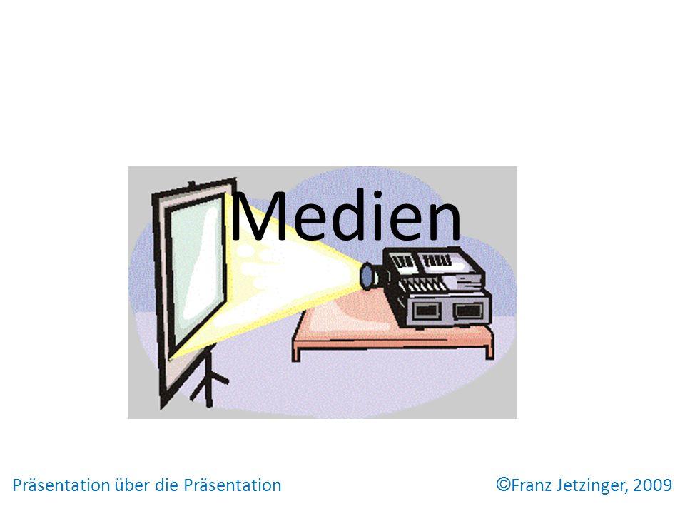 Medien Präsentation über die Präsentation © Franz Jetzinger, 2009