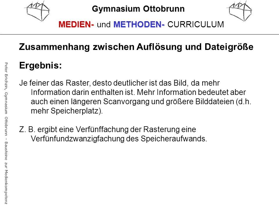 Peter Brichzin, Gymnasium Ottobrunn – Bausteine zur Medienkompetenz Gymnasium Ottobrunn MEDIEN-METHODEN- MEDIEN- und METHODEN- CURRICULUM Ergebnis: Je