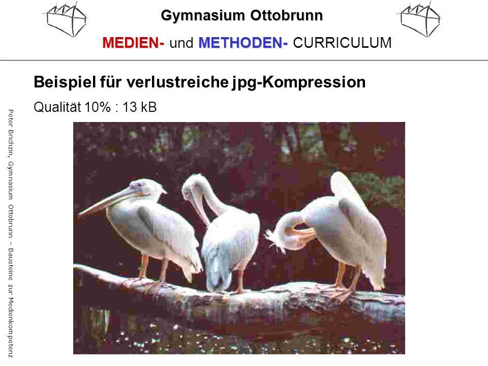 Peter Brichzin, Gymnasium Ottobrunn – Bausteine zur Medienkompetenz Qualität 10% : 13 kB Gymnasium Ottobrunn MEDIEN-METHODEN- MEDIEN- und METHODEN- CU