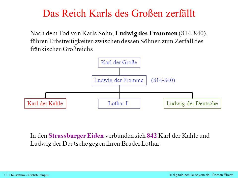 7.1.1 Kaisertum - Reichsteilungen© digitale-schule-bayern.de - Roman Eberth Die Strassburger Eide Die Brüder Ludwig d.