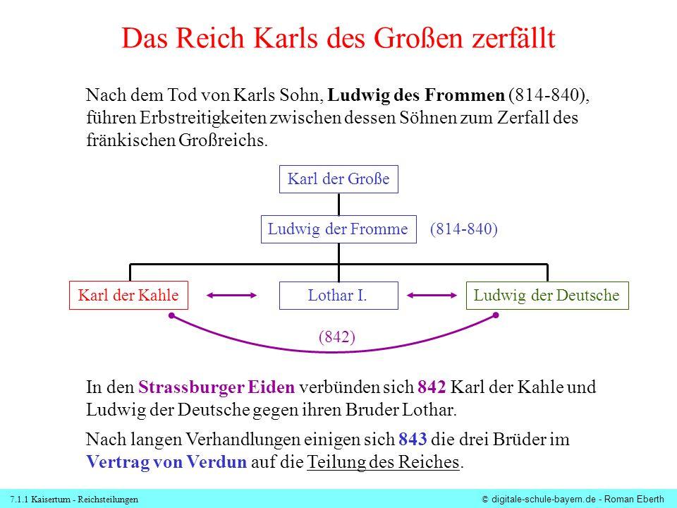 7.1.1 Kaisertum - Reichsteilungen© digitale-schule-bayern.de - Roman Eberth