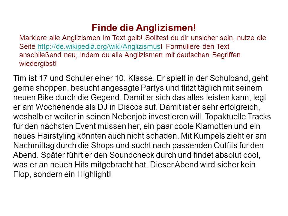 Positionen zur Verwendung von Anglizismen: Wir schätzen unsere deutsche Muttersprache, die Orgel unter den Sprachen , wie Jean Paul das einmal so schön formulierte.