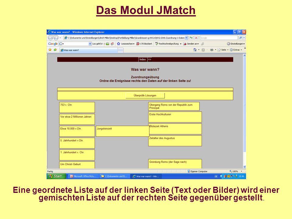 Das Modul JCloze Das Modul JCloze erzeugt Lückentexte.