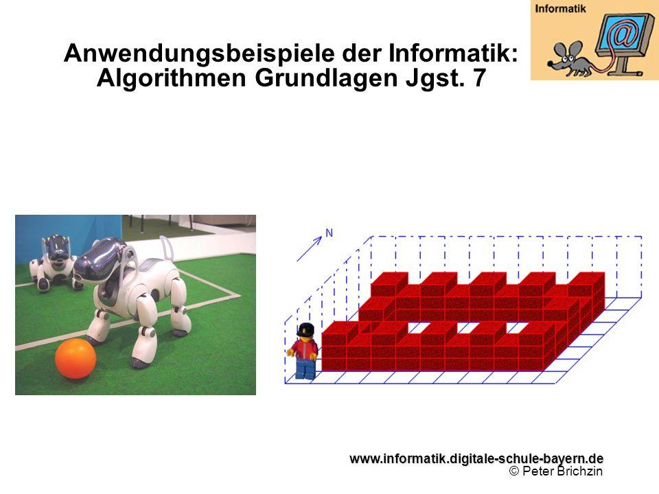 www.informatik.digitale-schule-bayern.de www.informatik.digitale-schule-bayern.de © Peter Brichzin Anwendungsbeispiele der Informatik: Algorithmen Gru